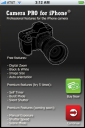 CameraPro iPhone - GUI screenshot